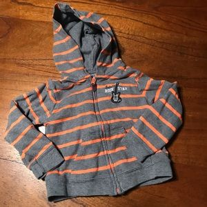 Carter's Striped Zip Hoodie with Guitar
